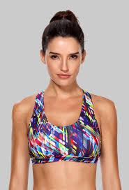 <b>Charmleaks Women's Mid Impact</b> Sports Bra Padded Support Yoga ...