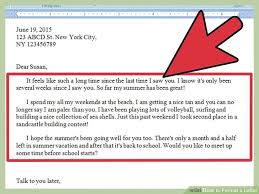 ways to format a letter   wikihowimage titled format a letter step