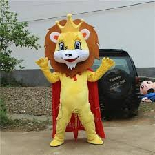 <b>Lion</b> King Mascot <b>Costume</b> Suit <b>Cosplay</b> Party Game Dress Outfit ...
