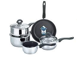 Buckingham Set of <b>Five</b> Cookware ( Saucepans <b>16 cm</b>/ 1.6 L, 18 <b>cm</b> ...