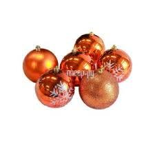 Купить <b>СИМА</b>-<b>ЛЕНД Набор шаров</b> Снежинка капель 6шт Orange ...