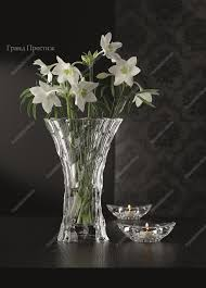 Набор ваза 28 см и <b>подсвечники</b> 4,3 см из хрусталя 3 предмета ...