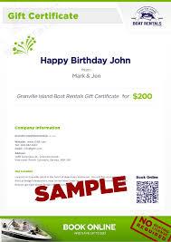 gift certs granville island boat rentals vancouver rental boats sample boat rental gift certificate