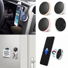 CUTE_Universal <b>Car</b> Phone Holder <b>Aluminum Alloy Magnetic</b> Plate ...