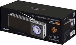 Портативный <b>радиоприемник MAX MR-400</b> Серебро купить в ...