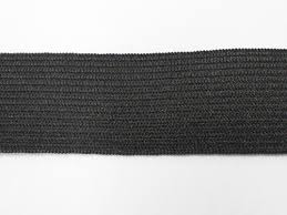 """Wholesale <b>Elastic Knitted</b> Non Roll - 3/4"""" Black. Sold in 50 yard rolls."""