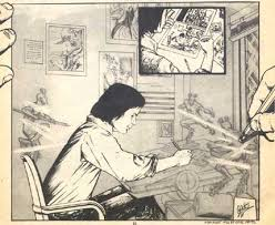 Carl Potts started his comics career in underground comix, contributing to titles such as Venture in 1976. He went on to become a commercial artist in New ... - potts_venture1976-2