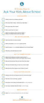 18 sneaky but effective questions to ask kids about school are you met silence when you ask your kids about school check out these