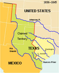 「On March 2, 1836, Texas declares independence from Mexico,」の画像検索結果