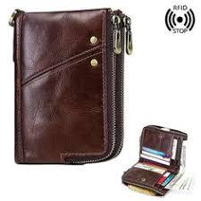 <b>Baellerry Men Wallet</b> Oil Wax Cowhide <b>Genuine</b> Leather <b>Wallets</b> ...