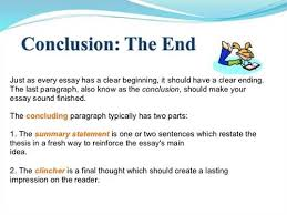 how do you conclude an english essayending the essay  conclusions
