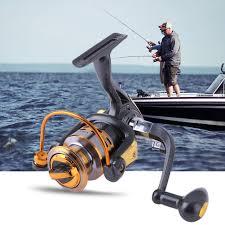 10BB Ball Bearing <b>5.2:1</b>/ <b>4.9:1</b> Metal <b>Spinning</b> Sea Fishing Reel ...