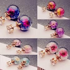 1 Pair <b>Elegant Flower</b> Rhinestone <b>Women</b> Fashion Ear Stud Earrings