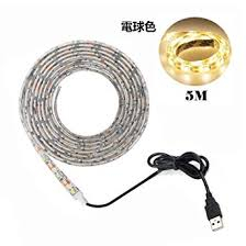 <b>USB</b> Power <b>Led</b> Strip Lights,Waterproof Warm White 16.4ft 60leds ...
