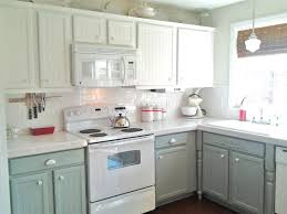 Colored Kitchen Appliances Kitchen With Wood Cabinets And White Appliances Monsterlune