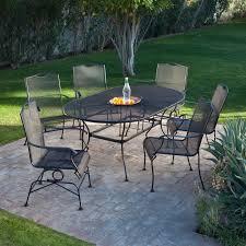 patio dining: coral coast sanders steel outdoor extension patio dining set patio dining sets at hayneedle