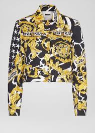 Versace Джинсовая <b>куртка с</b> принтом <b>Savage</b> Barocco для ...