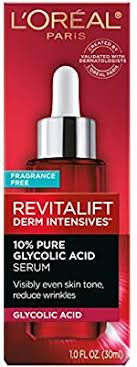 L'Oreal Paris Pure Glycolic Acid Face Serum Skin ... - Amazon.com