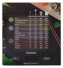 Кухонные <b>весы STARWIND SSK3377</b> — купить по выгодной цене ...