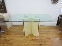 All Glass Dining Room Table Glass Top Dining Table With Bone Base For Sale At 1stdibs