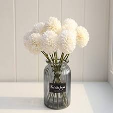 Shine-Co Artificial Chrysanthemum Ball <b>Hydrangea Flowers</b> ...