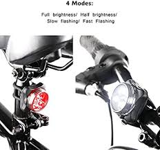 Ascher Rechargeable LED <b>Bike Lights</b> Set - Headlight <b>Taillight</b> ...