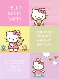 Free Kids Party Invitation Templates | Free Printable Invitations Hello Kitty Party Invitation