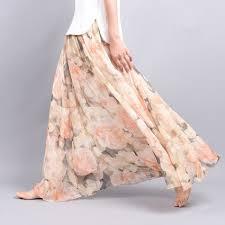 <b>Summer</b> Vintage <b>Bohemia</b> Floral Printed <b>Long Skirt</b>
