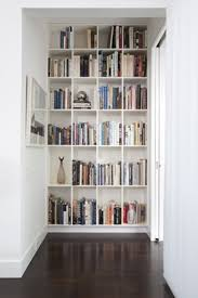 Wall Bookshelf Furniture Floating White Corner Bookshelf With White Desk And