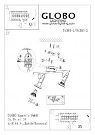<b>Спот Globo</b> Rail <b>54382-2</b> купить в интернет-магазине Светильник ...