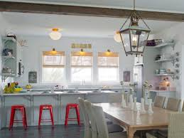 stunning country style kitchen design with milk glass flush mount ceiling lights fixtures and red antique kitchen lighting fixtures