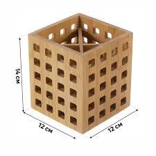 <b>Подставка</b> под столовые <b>приборы</b> BAO, 12х12х14 см, бамбук в ...