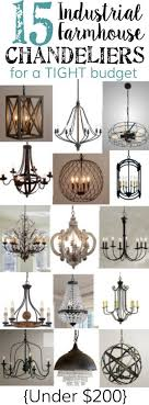 15 industrial farmhouse chandeliers for a tight budget amelie distressed chandelier perfect lighting