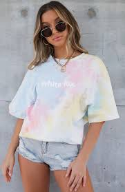 High Demand Tee <b>Rainbow Tie Dye</b> | White Fox Boutique