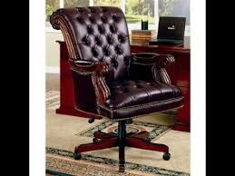 wood and leather office chairantique wood and leather office chair antique leather office chair