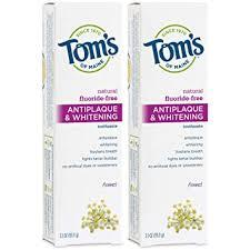 Tom's of Maine Fluoride-Free Antiplaque & Whitening ... - Amazon.com