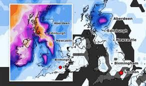UK snow map: <b>Brutal</b> -6C Atlantic deep freeze to deliver '<b>heavy</b> snow ...