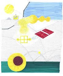 isabelle da euml ron turns recycled tennis ball felt into expressive isabelle daeron memories of a tennis ball on
