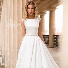 <b>LORIE Princess Wedding</b> Dress Half Sleeves Elegant Appliqued A ...