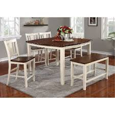 cherry counter height piece:   piece counter height dining set with bench dover white and cherry