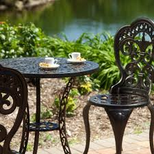 there black garden furniture