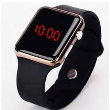 Square Mirror Face Silicone Band Digital Watch Red LED ... - Vova