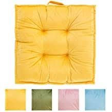 DK Homewares Round Ethnic Floor Pillow <b>Bohemian Mango</b> Yellow ...