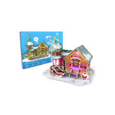 <b>CubicFun</b> 3D пазл <b>Рождественский домик</b> 3 ( с подсветкой ...