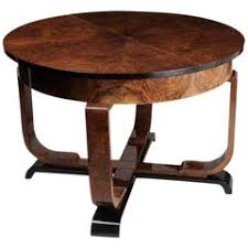 oval dining table art deco: art deco dining table with leaf
