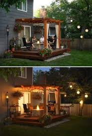 15 diy backyard and patio lighting projects brown set patio source outdoor