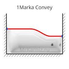 <b>Карниз для ванны</b> 1 Marka Convey 150х75 в Москве. Цена 2 440 ...