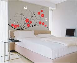 bedroom painting designs: wall designs for bedroom on wall designs