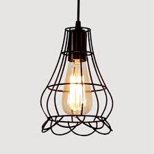 <b>retro</b> e27 <b>iron pendant</b> cage light for bar coffee shop <b>nordic</b> style ...
