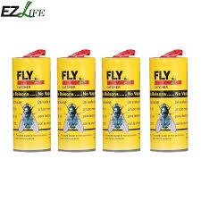 <b>4 Rolls/pack Insect Bug</b> Fly Glue Paper Catcher Trap Ribbon Strip ...